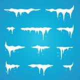 Παγάκια που τίθενται στο φραγμό και τα κουμπιά επιλογών περιοχών Νέα snowflakes de έτους Στοκ φωτογραφία με δικαίωμα ελεύθερης χρήσης