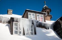 Παγάκια στη στέγη Στοκ εικόνες με δικαίωμα ελεύθερης χρήσης