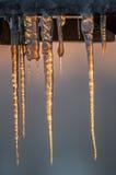 Παγάκια στο ηλιοβασίλεμα Στοκ Εικόνες