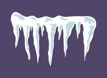 Παγάκια, χιόνι ΚΑΠ, διανυσματικό σχέδιο εικονιδίων συμβόλων κλίσης ελεύθερη απεικόνιση δικαιώματος