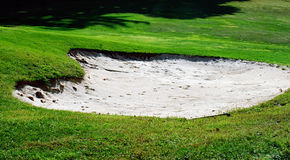 παγίδα άμμου γκολφ Στοκ Εικόνες