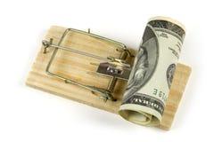 παγίδα χρημάτων στοκ εικόνα