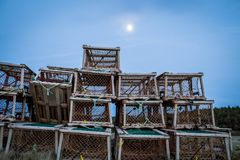 Παγίδες αστακών στο νησί του Edward πριγκήπων στοκ εικόνες