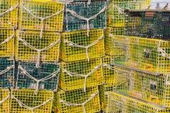 Παγίδες αστακών Στοκ εικόνες με δικαίωμα ελεύθερης χρήσης