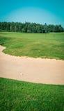 Παγίδα άμμου σε ένα γήπεδο του γκολφ Στοκ φωτογραφίες με δικαίωμα ελεύθερης χρήσης