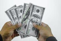 Παγίδα με τους λογαριασμούς δολαρίων που απομονώνονται πέρα από το άσπρο υπόβαθρο, κίνδυνος στην επιχείρηση, επιχειρηματίας που π Στοκ φωτογραφία με δικαίωμα ελεύθερης χρήσης