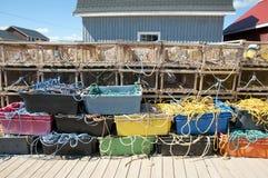 Παγίδες αστακών - νησί του Edward πριγκήπων - Καναδάς στοκ φωτογραφία