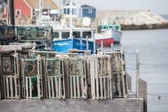 Παγίδες αστακών στον όρμο Peggys Στοκ Φωτογραφία