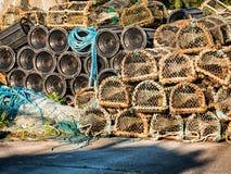 Παγίδες αστακών στο λιμένα Westport, δυτική Ιρλανδία Στοκ εικόνες με δικαίωμα ελεύθερης χρήσης