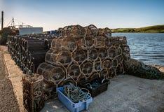 Παγίδες αστακών στο λιμένα Westport, δυτική Ιρλανδία Στοκ Εικόνες