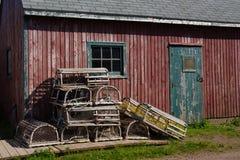 Παγίδες αστακών Στοκ φωτογραφίες με δικαίωμα ελεύθερης χρήσης