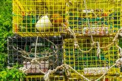 Παγίδες αστακών Schoodic Στοκ εικόνες με δικαίωμα ελεύθερης χρήσης