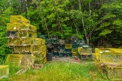 Παγίδες αστακών Schoodic Στοκ Φωτογραφία