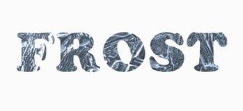 Παγετός επιγραφής ελεύθερη απεικόνιση δικαιώματος