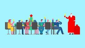Παγετός ρωσικός Άγιος Βασίλης πατέρων στο γραφείο κομμάτων Ρωσία νέο Yea ελεύθερη απεικόνιση δικαιώματος