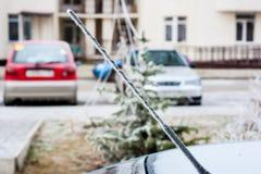 Παγετός στην κεραία αυτοκινήτων Στοκ Φωτογραφίες