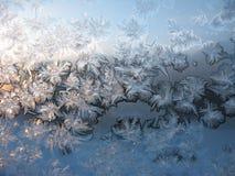Παγετός στο παράθυρο Στοκ εικόνες με δικαίωμα ελεύθερης χρήσης