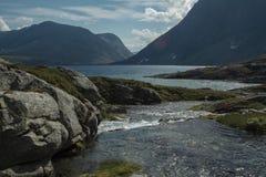 Παγετώδης ποταμός μεγάλου υψομέτρου - Νορβηγία στοκ εικόνα με δικαίωμα ελεύθερης χρήσης