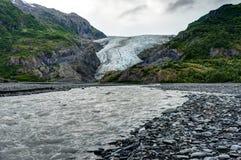 Παγετώνας εξόδων σε Seward στην Αλάσκα Ηνωμένες Πολιτείες της Αμερικής Στοκ εικόνες με δικαίωμα ελεύθερης χρήσης