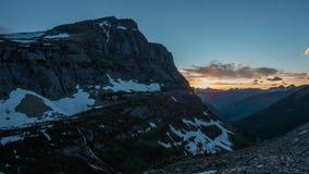 Παγετώνας - ηλιοβασίλεμα Logan απόθεμα βίντεο