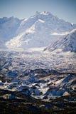παγετώνας ηλιόλουστος Στοκ Φωτογραφίες