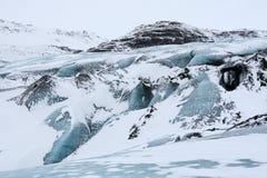 παγετώνας Ισλανδία solheimajokull Στοκ Φωτογραφία