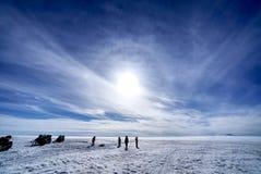 Παγετώνας και ηφαίστειο Eyjafjallajokull στην Ισλανδία στοκ εικόνες