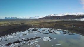 Παγετώνας που λειώνει στην Ισλανδία απόθεμα βίντεο