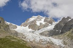 Παγετώνας σε Val Veny σε Val Aosta Στοκ Φωτογραφία