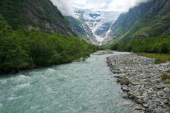 Παγετώνας στη Νορβηγία Στοκ Εικόνες