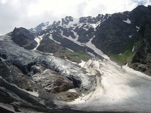 Παγετώνας στη Ρωσική Ομοσπονδία kabarda republik Στοκ φωτογραφία με δικαίωμα ελεύθερης χρήσης