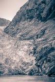Παγετώνας του Sawyer στα φιορδ της Αλάσκας βραχιόνων tracy κοντά στη ketchikan Αλάσκα Στοκ Εικόνα