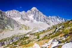Παγετώνας Argentiere στη Mont Blanc, Γαλλία Στοκ Φωτογραφίες