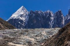 Παγετώνας Argentiere στις Άλπεις Chamonix, Γαλλία Στοκ Εικόνες