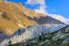 Παγετώνας Argentiere στις Άλπεις Chamonix, Γαλλία Στοκ Φωτογραφία