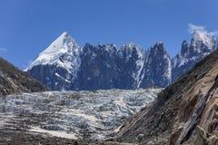 Παγετώνας Argentiere στις Άλπεις Chamonix, Γαλλία Στοκ εικόνες με δικαίωμα ελεύθερης χρήσης