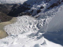 παγετώνας cordilleras υψηλός Στοκ Εικόνα