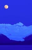 Παγετώνας Grewingk κάτω από μια πανσέληνο Στοκ φωτογραφίες με δικαίωμα ελεύθερης χρήσης