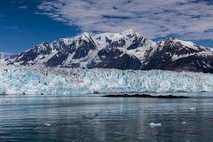 Παγετώνας Hubbard και επιπλέων πάγος Στοκ Φωτογραφίες