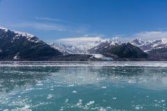Παγετώνας Hubbard και επιπλέων πάγος Στοκ Εικόνα