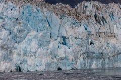 Παγετώνας Hubbard και επιπλέων πάγος Στοκ Εικόνες