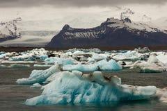 Παγετώνας Jokulsarlon Στοκ Φωτογραφίες