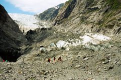 παγετώνας Josef Νέα Ζηλανδία τ&omicro στοκ φωτογραφία με δικαίωμα ελεύθερης χρήσης