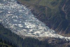 Παγετώνας, Mont Blanc Στοκ φωτογραφία με δικαίωμα ελεύθερης χρήσης