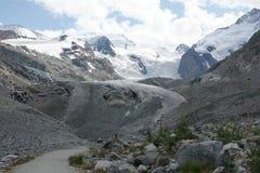 Παγετώνας Morteratsch Στοκ Εικόνες