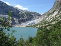 Παγετώνας Nigardsbreen, Νορβηγία Στοκ Εικόνα
