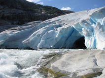 Παγετώνας Nigardsbreen, Νορβηγία Στοκ Φωτογραφίες
