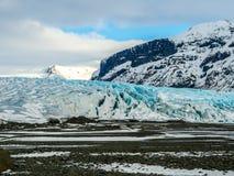 Παγετώνας Skaftafellsjokull (εθνικό πάρκο Vatnajokull) Ισλανδία Στοκ εικόνες με δικαίωμα ελεύθερης χρήσης