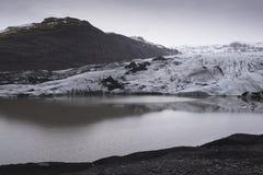 Παγετώνας Solheimajokull στην Ισλανδία Στοκ Εικόνα