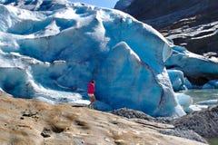 Παγετώνας Svartisen στη Νορβηγία στοκ εικόνα